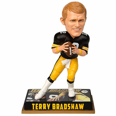 Pittsburgh Steelers Terry Bradshaw 12 Player Bobble Head forever Collectibles