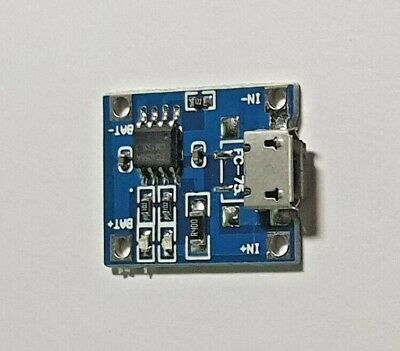 Lithium Battery Charging Board - 1A-5V - Micro USB - UK Free P&P