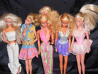 Lot of 5-BARBIE Dolls-All Clothed-1970's-1990's-Pre-Owned-Some Flaws-Priced to S