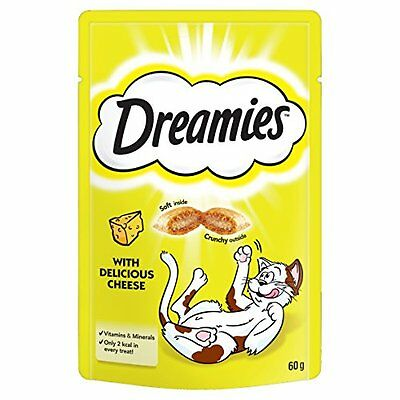 Dreamies Cat Treats with Cheese, 60 g - Pack of 8 • EUR 11,13
