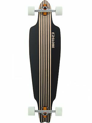 Globe Black Prowler - 38 Inches Drop Through Longboard Complete