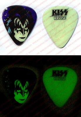 2016 KISS KRUISE VI Gene Simmons Glow in the Dark Creatures Guitar Pick