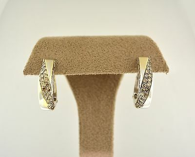 Mauboussin Champaign Diamond Small Hoop Earrings 18K White Gold Sophisticated • CAD $3,780.00