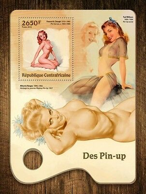 Z08 IMPERFORATED CA16712b CENTRAL AFRICA 2016 Pin-up art MNH