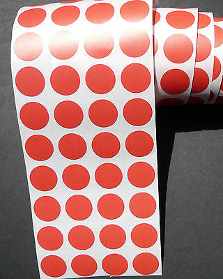 1500  Blank rummage garage yard sale stickers Red labels tags