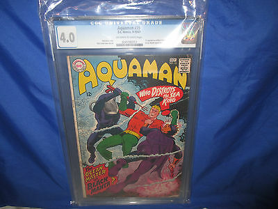 AQUAMAN #35 CGC 4.0 1st Appearance Black Manta O/W to White Pages VG