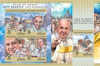 Z08 IMPERFORATED SLM16316ab SOLOMON ISLANDS 2016 Year of Mercy MNH Set