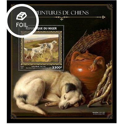 Z08 NIG16408b NIGER 2016 Dogs on paintings MNH