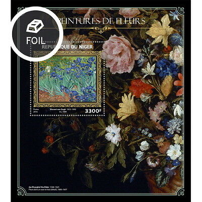 Z08 NIG16410b NIGER 2016 Flowers on paintings MNH