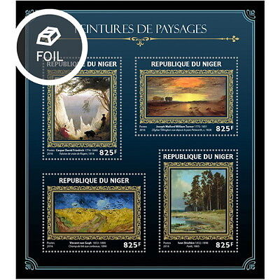 Z08 NIG16412a NIGER 2016 Landscapes on paintings MNH