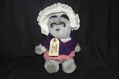 "Vintage 1981 Paddington Bears Aunt Lucy Plush Doll Eden Toys With Tag 9.5"" Tall"