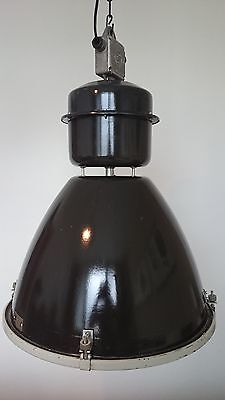Big Old  Antique Bauhaus Industrial Factory Enamel Pendant  Lamp Light