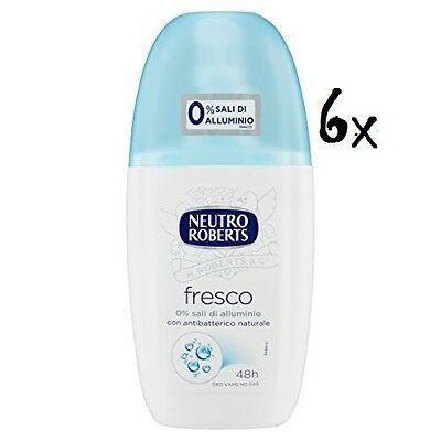 6x NEUTRO ROBERTS blue fresh Fresco Deo deodorant Vapo Natural Spray 75ml .