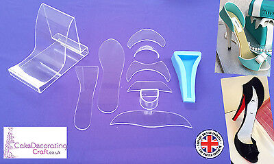 Fondant High Heel Shoe Kit for Cake Decoration and Cake Toppers | 10 Parts