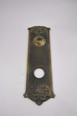Antique Art Nouveau Cast Brass Door Entry Backplate #02756