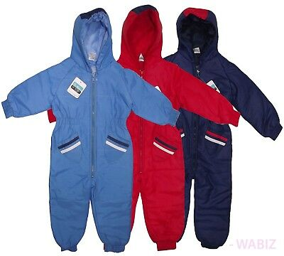 New Kids Rainsuit Snowsuit Waterproof All In One Childrens  Boys Girls 9-24Month