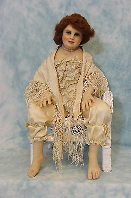 """18"""" Anna Avagail Brahms poured wax doll Prosculpt Artist Doll 1986 Signed OOAK"""