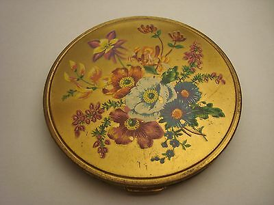 MELISSA vintage face powder compact made in England
