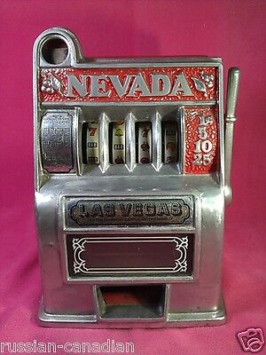 Vintage Nevada Miniature Slot Toy Machine. No-Coin Operated