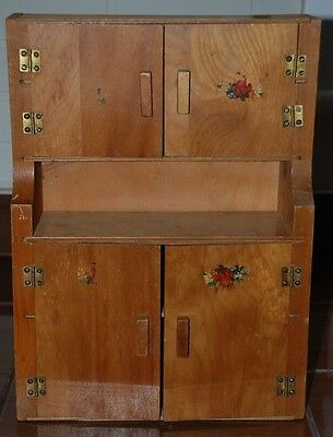 Vintage Toys Furniture Homemade Cabinet Dresser 15 Inches For Doll Or Decor