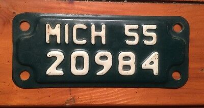 1955 Michigan Motorcycle License Plate