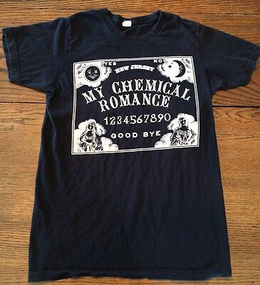 My Chemical Romance T-shirt Sz S New Jersey Ouija Board Black