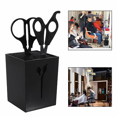 Professional Design Cubed Scissors Holder Black Perfect For Salons/barbers/home
