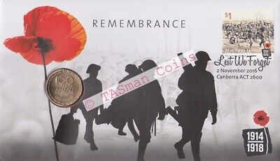 Australia 2016 Remembrance Day Lest We Forget PNC - RAM $1 Coin Limited Ed. 9000