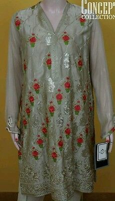 Agha Noor Pakistani Designer Kurta /Kurti/Shirt!! New Design !  Size Medium
