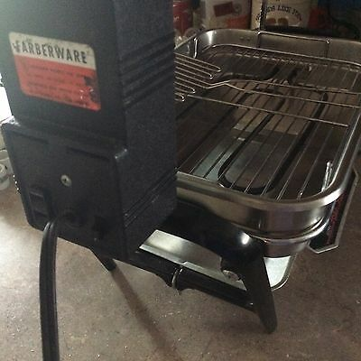 FARBERWARE Broiler Rotisserie Indoor Grill 450A Smokeless Stainless Steel