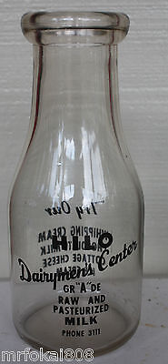 Hilo Dairymens Center Hawaii One Pint Big Island Milk Bottle Hawaiian