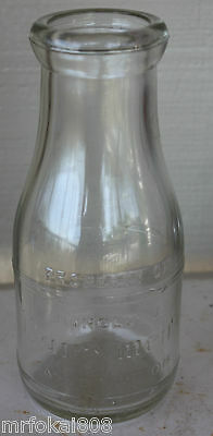 Property Of Dairymens Honolulu One Pint Hawaii Milk Bottle Hawaiian