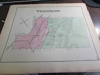 Antique - Original 1873 Wilkes-Barre  Pa Map