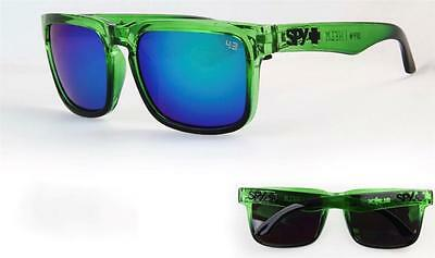 Mens Sunglasses Green Black  Ken Block Spy Blue Reflective Lenses 100% Uv $34.95