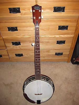 Vintage 5-String Closed Back Banjo Made in Japan Very Good Cond Probably 1970s