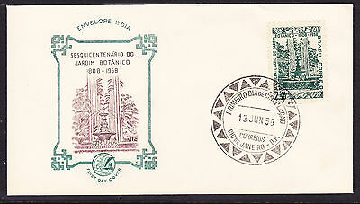 Brazil 1958 Botanical Gardens Rio Centenary First Day Cover- Unaddressed