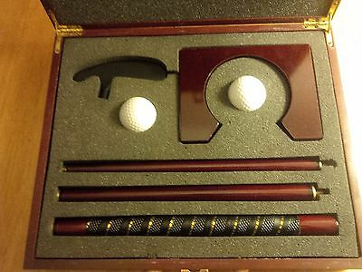 Executive Golf Office Putting Set in Wooden Case