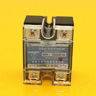 10A To 100A Solid State Relay SSR DC-DC 3V-32V DC 5V-220V DC High Quality