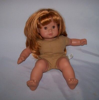 """Gotz Puppen 16"""" Doll Red Layered Hair  Tagged Nude"""