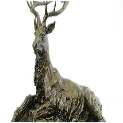 Handcrafted Stag Elk Deer Buck Hunter Bronze Marble Sportsman Wildlife Art  A