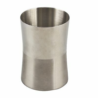Boutique MARLOW BATHROOM TUMBLER Stainless Steel w Two-Tone Finish Modern Design