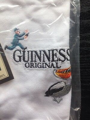White Guinness Polo T Shirt New With Tags. Medium