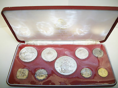 1973 Commonwealth of the Bahama Islands Proof Set - 9 Coins with Silver
