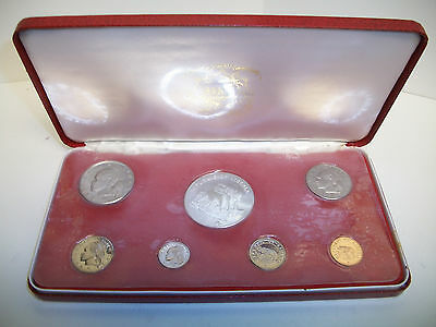 1973 Republic of Liberia Proof Coin Set 7 Coins with Silver