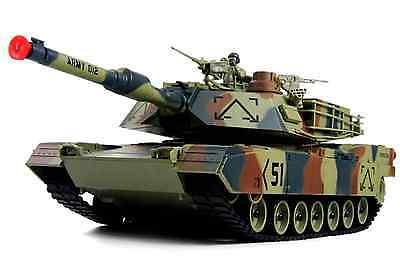 """M1A2 Abrams USA Battle Tank RC 16"""" Airsoft Military Vechile with Sound (Color Ma"""