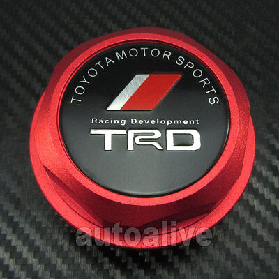 Red TRD Style Engine Oil Filter Cap Fuel Tank Cover Plug for Toyota Scion Lexus