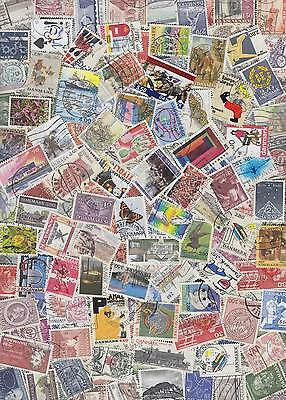 200 DENMARK stamps, fine used colourful