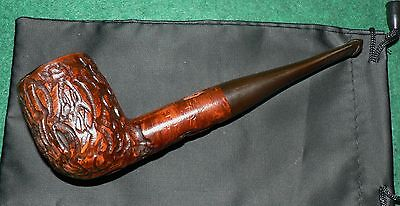 Real Briar' Vintage Tobacco Pipe & Pouch. Used. Good Solid Condition.