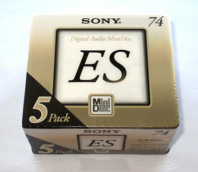 "Five (5) minidisc SONY ""ES"" MD-74 '1999 (new and sealed)"