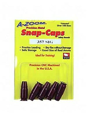 A-Zoom 15159 Precision Snap Caps Safety Training .357 Sig 5 Pack AZ15159